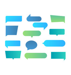 thought shapes text chat speech rectangular vector image