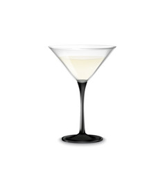 Transparent glass with martini and olive vector