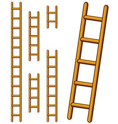 Various cartoon step ladders set vector