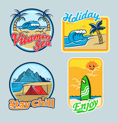 vitamin sea badge vector image