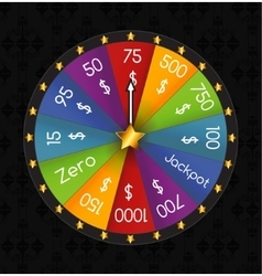 Wheel of Fortune Lucky vector