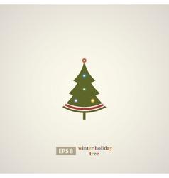 Winter holidays decoration tree vector