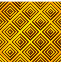 Yellow-orange seamless pattern squares vector