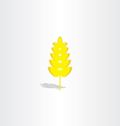 yellow plant wheat icon vector image