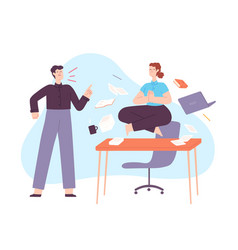 yoga in office stress calm woman meditate vector image