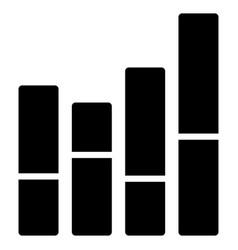 bar chart flat icon vector image