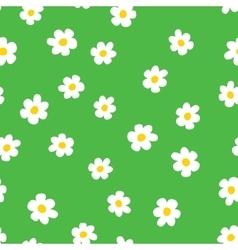 Cartoon flowers seamless pattern vector image vector image
