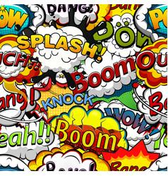 comics speech bubbles seamless pattern vector image vector image