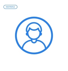flat line male icon vector image