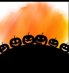 halloween background on watercolour texture vector image vector image