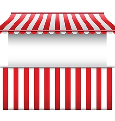 Stall with stripped awning vector image vector image