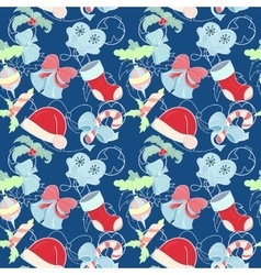 Christmas holliday pattern vector image vector image
