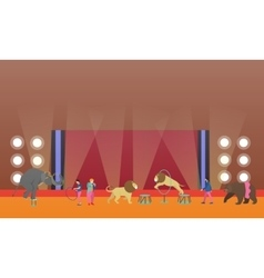 Circus interior concept banner Artists vector image