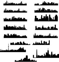 city panoramas vector image
