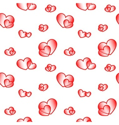 Red big and small hearts vector image vector image