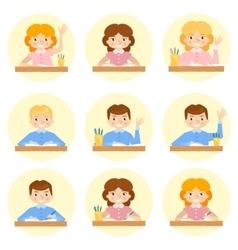 schoolchild avatar vector image