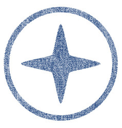 sparkle star rounded fabric textured icon vector image