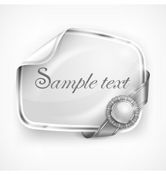 White sticker vector image vector image