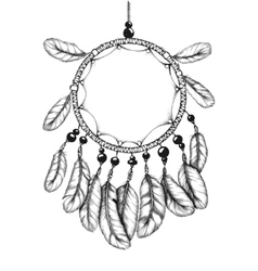 Ethnic tribal dream catcher with feathers vector image vector image