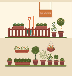 gardening and growing plants vector image vector image