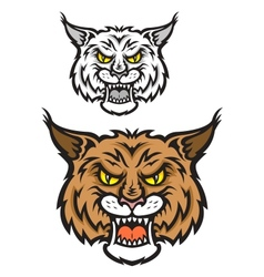 Lynx mascot vector image vector image