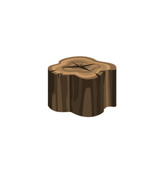 old dry tree stump isolated on white background vector image