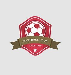 Soccer Football Badge and ribbon vector image vector image
