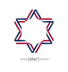 Star Abstract design element vector image vector image