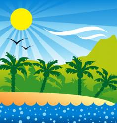 tropical isle background vector image