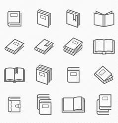 Book outline stroke symbol vector image