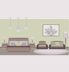 classic style hotel bedroom interior with vector image vector image
