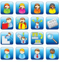 office web icons vector image