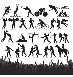 olympic sport silhouettes vector image vector image