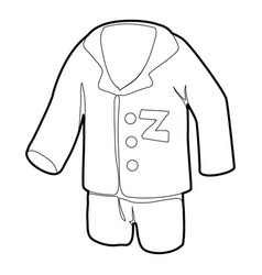 Pajamas icon outline style vector