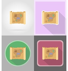 pirate flat icons 15 vector image vector image