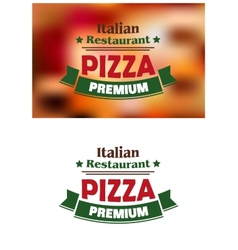 Premium italian pizza labe vector image