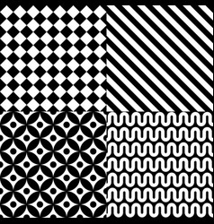 seamless abstract pattern set vector image vector image