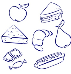 set a morning meal vector image vector image