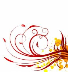 spring red illustration vector image vector image