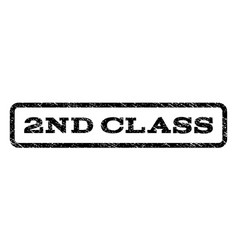 2nd class watermark stamp vector