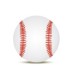 3d realistic baseball ball american sport vector image