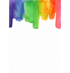 abstract rainbow brush stroke watercolor vector image