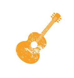 Acoustic guitar silhouette vector