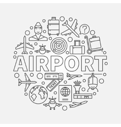 Airport round vector image