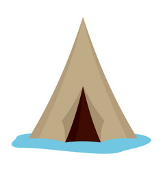 alaska tent icon flat style vector image