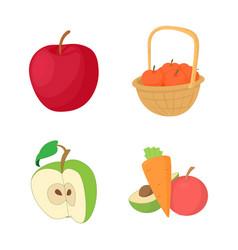 apple icon set cartoon style vector image