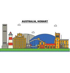 Australia hobart city skyline architecture vector