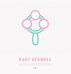Baby beanbag thin line icon vector