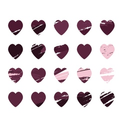 Background abstract hearts vector