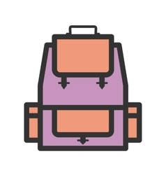 Backpack vector
